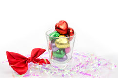 Chocolate hearts candies Stock Photo