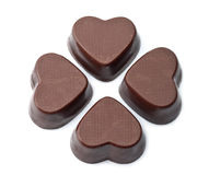 Chocolate hearts isolated Royalty Free Stock Photography