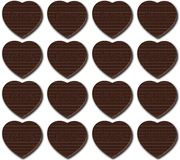 Chocolate hearts pattern Stock Photos