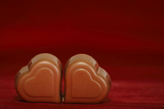 Chocolate hearts Stock Photo