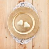 Chocolate hearts Royalty Free Stock Photos