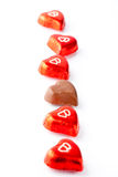 Chocolate hearts for Valentine's day Royalty Free Stock Images