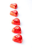 Chocolate hearts for Valentine's day Stock Photography