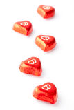 Chocolate hearts for Valentine's day Stock Photos