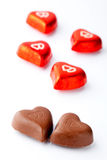 Chocolate hearts for Valentine's day Royalty Free Stock Image