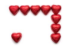 Chocolate hearts Royalty Free Stock Photography