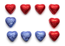 Chocolate hearts Royalty Free Stock Images