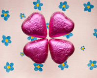 Chocolate hearts valentines day. Royalty Free Stock Image