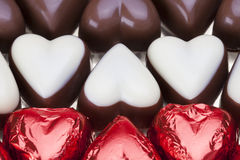Chocolate hearts Stock Images