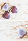 Chocolate hearts Stock Photos