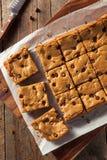 Chocolate hecho en casa Chip Blondies Fotos de archivo