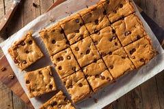 Chocolate hecho en casa Chip Blondies Foto de archivo libre de regalías