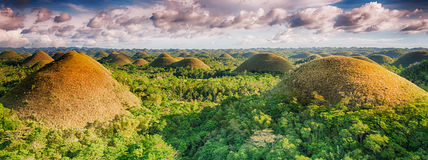Chocolate Hills stock images