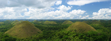 Chocolate Hills on Bohol Island Royalty Free Stock Image