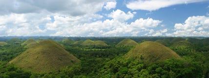 Chocolate Hills on Bohol Island. The Chocolate Hills seen from the overlook, Bohol Island, the Philippines Royalty Free Stock Image