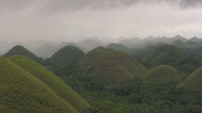 Chocolate hills on Bohol island stock footage