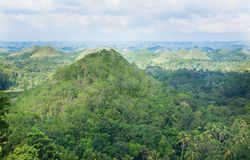 Chocolate Hills, Bohol Island Royalty Free Stock Photo