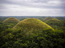 Chocolate hills in Bohol Island, Philippines Stock Photos