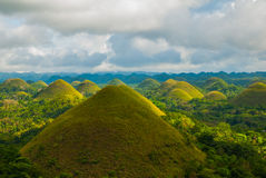 Chocolate Hills, Bohol Island, Philippines. Southeast Asia Royalty Free Stock Photo