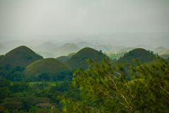 Chocolate Hills, Bohol Island, Philippines. Southeast Asia Royalty Free Stock Images