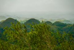 Chocolate Hills, Bohol Island, Philippines. Southeast Asia Royalty Free Stock Photography