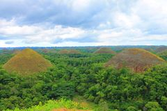 Chocolate Hills Bohol Island Philippines. Chocolate Hills is an unusual geological formation located on the island of Bohol in the Philippines. nnThis formation Royalty Free Stock Images