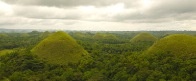 Chocolate Hills in Bohol Philippines Stock Photos