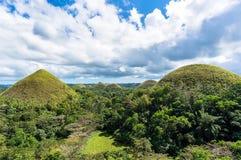 Chocolate hills of Bohol  Philippines Royalty Free Stock Photo