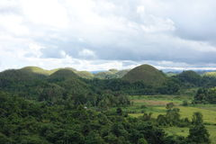 Chocolate Hills. Are geolohical formation in Bohol Philippines Royalty Free Stock Photography
