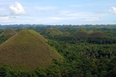 The Chocolate Hills on the Island of Bohol in the Philippines Royalty Free Stock Photography