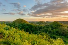 Chocolate Hills - the main attraction of the Philippines. Asia stock photography