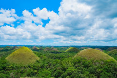 Chocolate Hills natural landmark Royalty Free Stock Images