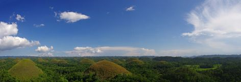 Chocolate Hills (panorama) Royalty Free Stock Photography