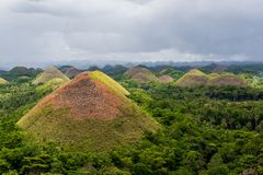 Chocolate hills in Philippines Stock Images