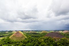 Chocolate hills in Philippines Stock Photography