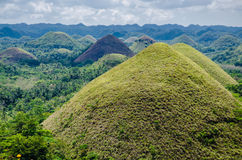 Chocolate Hills, Summer, Bohol Island, Philippines. Green Chocolate Hills in summer time, Bohol Island, Philippines Royalty Free Stock Photo
