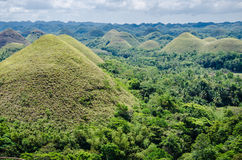 Chocolate Hills, Summer, Bohol Island, Philippines. Green Chocolate Hills in summer time, Bohol Island, Philippines Stock Photography