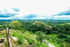 Chocolate hills. World famous chocolate hills in bohol philippines Stock Images
