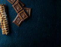 Chocolate And Tubes stock photography