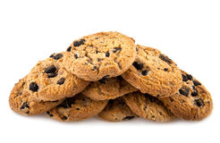 Chocolate homemade pastry cookies isolated Stock Photos