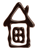 Chocolate house. House made from  chocolate syrup Royalty Free Stock Photo