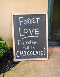 Chocolate humor Royalty Free Stock Images