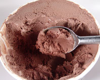 Chocolate Ice Cream. Photo of Chocolate Ice Cream And Scooper stock images