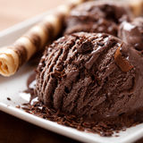 Chocolate ice cream Stock Photography