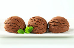 Chocolate ice cream Stock Photos