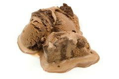 Chocolate Ice Cream. A photo of some chocolate ice cream isolated over a white background Stock Images
