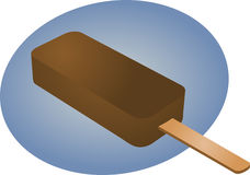 Chocolate ice cream. Ice cream chocolate fudgicle on stick illustration Vector illustration available for download. Click here for more vectors stock illustration