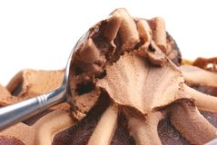 Chocolate ice cream. Take a chocolate ice cream with white background Royalty Free Stock Images