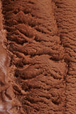Chocolate ice cream from above royalty free stock photography