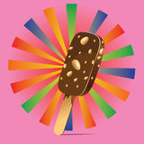 Chocolate Ice Cream Background Stock Photo